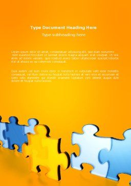 Jigsaw Chain Word Template, Cover Page, 03165, Abstract/Textures — PoweredTemplate.com