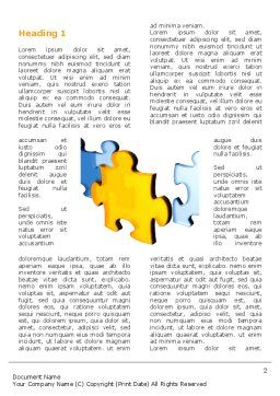 Jigsaw Chain Word Template, First Inner Page, 03165, Abstract/Textures — PoweredTemplate.com