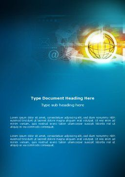 World Online Word Template, Cover Page, 03166, Telecommunication — PoweredTemplate.com