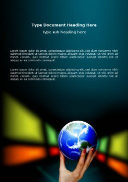 Global Power Word Template, Cover Page, 03167, Global — PoweredTemplate.com