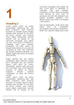 Puppet Word Template, First Inner Page, 03170, 3D — PoweredTemplate.com