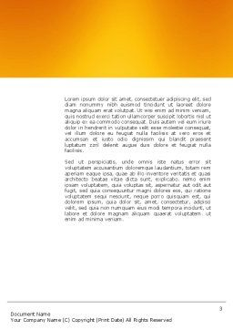 Puppet Word Template, Second Inner Page, 03170, 3D — PoweredTemplate.com
