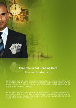 Richness Word Template, Cover Page, 03171, Business — PoweredTemplate.com