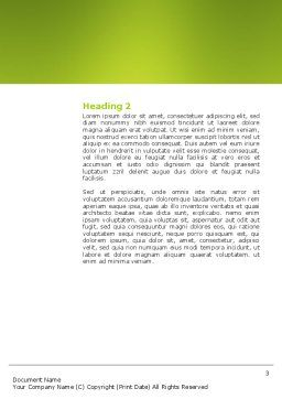 Richness Word Template, Second Inner Page, 03171, Business — PoweredTemplate.com