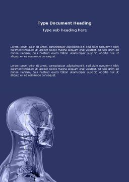 Shoulder Girdle Word Template, Cover Page, 03172, Medical — PoweredTemplate.com