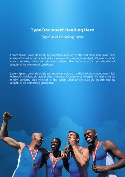 Sport Victory Word Template, Cover Page, 03175, Sports — PoweredTemplate.com