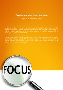 Focus Word Template, Cover Page, 03176, Abstract/Textures — PoweredTemplate.com