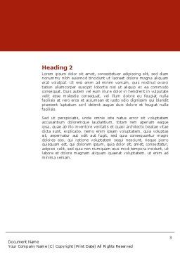 Red Spheres Word Template, Second Inner Page, 03177, Medical — PoweredTemplate.com