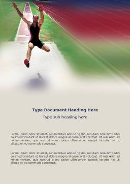 Broad Jump Word Template, Cover Page, 03179, Sports — PoweredTemplate.com