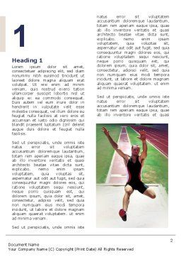Broad Jump Word Template, First Inner Page, 03179, Sports — PoweredTemplate.com