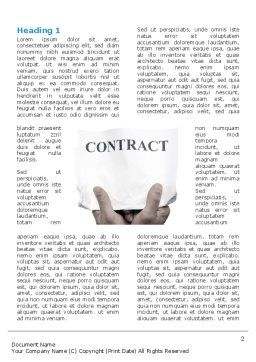 Contract Word Template, First Inner Page, 03181, Business — PoweredTemplate.com