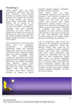 Comfort Word Template, First Inner Page, 03182, Art & Entertainment — PoweredTemplate.com