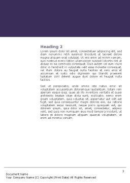 Comfort Word Template, Second Inner Page, 03182, Art & Entertainment — PoweredTemplate.com