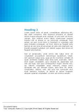 Swimming Word Template, Second Inner Page, 03186, Construction — PoweredTemplate.com
