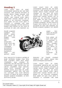 Bike Word Template First Inner Page