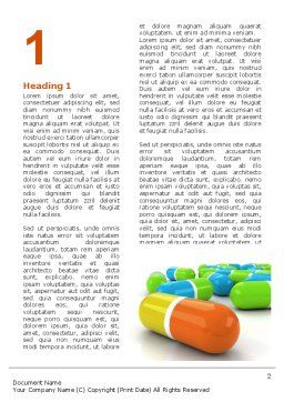 Colored Pills Word Template, First Inner Page, 03191, Medical — PoweredTemplate.com