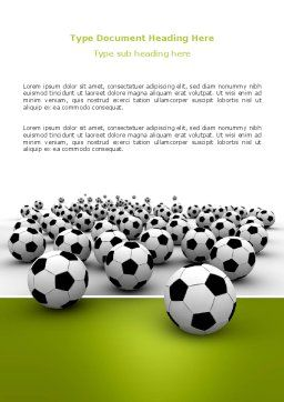 Football Championship Word Template, Cover Page, 03192, Sports — PoweredTemplate.com