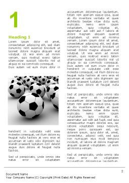 Football Championship Word Template, First Inner Page, 03192, Sports — PoweredTemplate.com