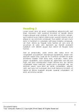 Football Championship Word Template, Second Inner Page, 03192, Sports — PoweredTemplate.com