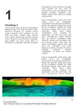 Gravity Data Word Template, First Inner Page, 03194, Technology, Science & Computers — PoweredTemplate.com