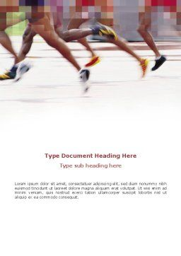 Marathon Word Template, Cover Page, 03196, Sports — PoweredTemplate.com