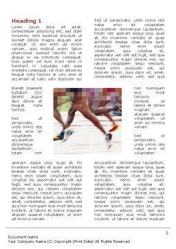 Marathon Word Template, First Inner Page, 03196, Sports — PoweredTemplate.com