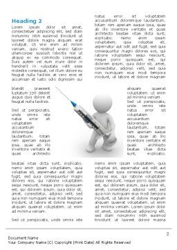 Stickman With Syringe Word Template, First Inner Page, 03199, Medical — PoweredTemplate.com