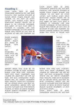 Jump High Word Template, First Inner Page, 03200, Sports — PoweredTemplate.com