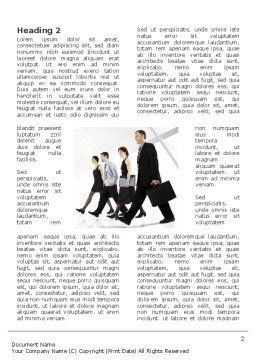 Career Opportunities Word Template First Inner Page