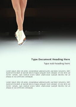 Dancing On Ice Word Template, Cover Page, 03206, Sports — PoweredTemplate.com