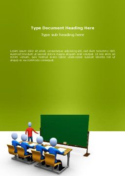 Teaching Class Word Template, Cover Page, 03209, Education & Training — PoweredTemplate.com
