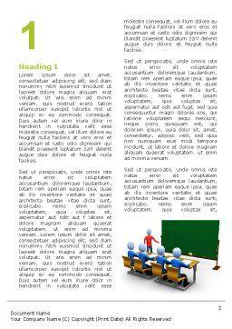 Teaching Class Word Template, First Inner Page, 03209, Education & Training — PoweredTemplate.com