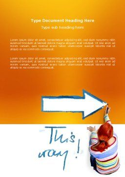 Direction Word Template, Cover Page, 03210, Consulting — PoweredTemplate.com