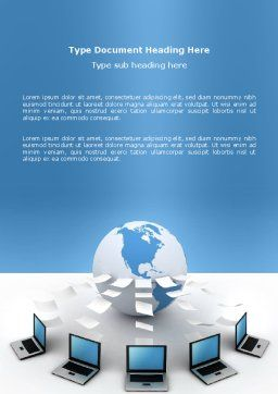 Data Transfer Word Template, Cover Page, 03211, Technology, Science & Computers — PoweredTemplate.com