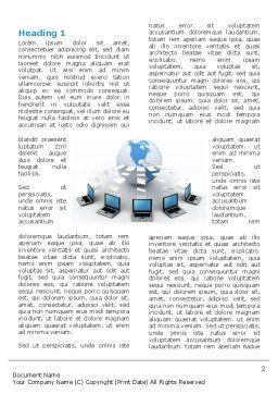 Data Transfer Word Template, First Inner Page, 03211, Technology, Science & Computers — PoweredTemplate.com