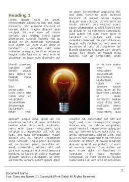 Light Bulb Word Template, First Inner Page, 03218, Business Concepts — PoweredTemplate.com