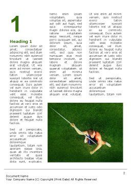 Spear Thrower Word Template, First Inner Page, 03222, Sports — PoweredTemplate.com