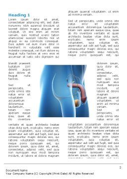 Male Reproductive Organs Word Template, First Inner Page, 03223, Medical — PoweredTemplate.com