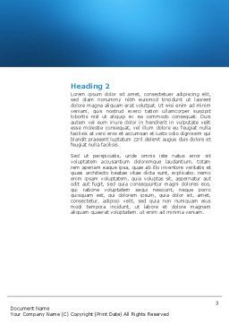 Male Reproductive Organs Word Template, Second Inner Page, 03223, Medical — PoweredTemplate.com