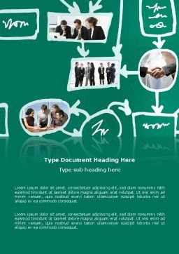Scheme Of Team Work Word Template, Cover Page, 03226, Consulting — PoweredTemplate.com