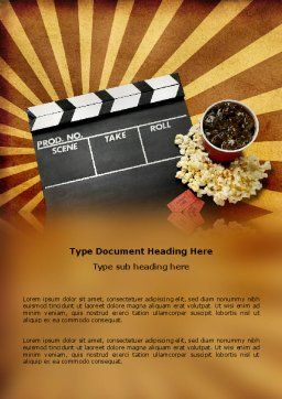 Films and Cinema Word Template, Cover Page, 03230, Art & Entertainment — PoweredTemplate.com