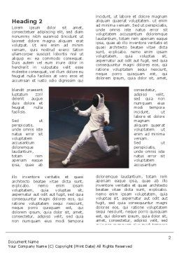 Fencing Bout Word Template, First Inner Page, 03232, Sports — PoweredTemplate.com