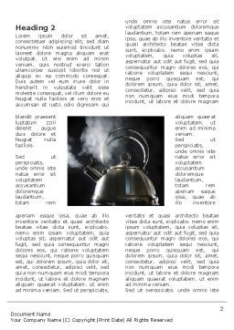 Boiling Kettle Word Template, First Inner Page, 03235, Business Concepts — PoweredTemplate.com