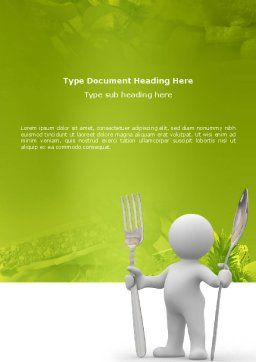 Meal Word Template Cover Page