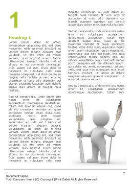 Meal Word Template First Inner Page