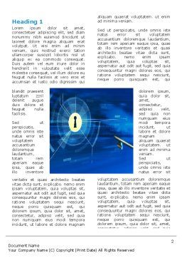 Key Of Blue Door Word Template, First Inner Page, 03237, Technology, Science & Computers — PoweredTemplate.com