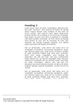 Diving Mask Word Template, Second Inner Page, 03239, Sports — PoweredTemplate.com