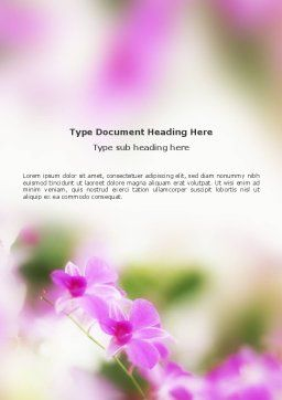 Blooming Flowers Word Template Cover Page