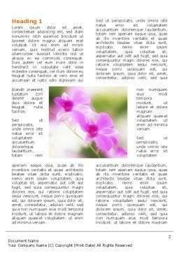 Blooming Flowers Word Template First Inner Page