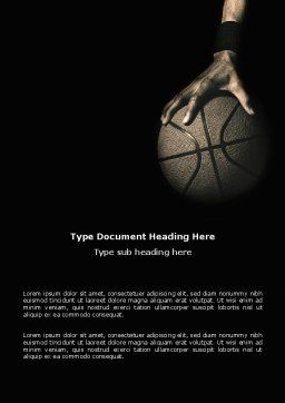 Basketball Player Word Template Cover Page